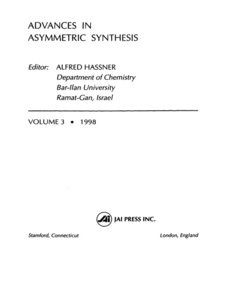 Ebook in inglese Advances in Asymmetric Synthesis, Volume 3 -, -