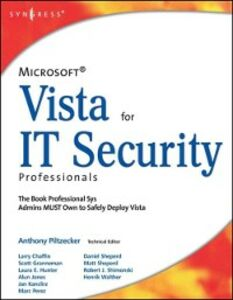 Ebook in inglese Microsoft Vista for IT Security Professionals Piltzecker, Anthony