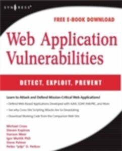 Ebook in inglese Web Application Vulnerabilities Palmer, Steven