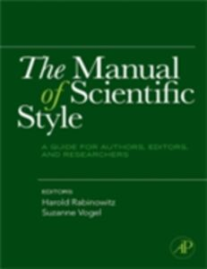Ebook in inglese Manual of Scientific Style