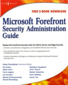 Ebook in inglese Microsoft Forefront Security Administration Guide Varsalone, Jesse