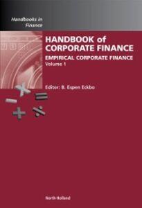 Ebook in inglese Handbook of Empirical Corporate Finance SET -, -