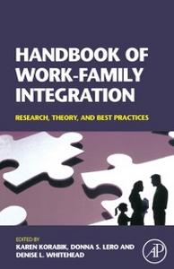 Ebook in inglese Handbook of Work-Family Integration -, -