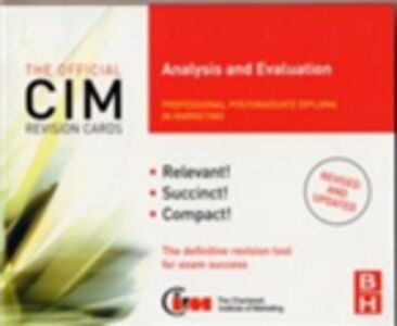 Ebook in inglese CIM Revision Cards Analysis and Evaluation Beamish, Karen