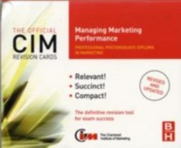Ebook in inglese CIM Revision Cards Managing Marketing Performance Beamish, Karen