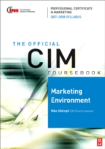 Ebook in inglese CIM Coursebook Marketing Environment 07/08 Oldroyd, Mike