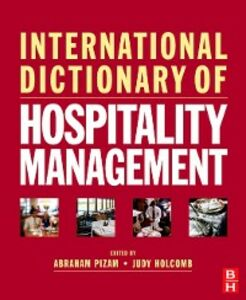 Ebook in inglese International Dictionary of Hospitality Management