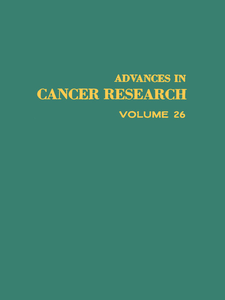 Ebook in inglese ADVANCES IN CANCER RESEARCH, VOLUME 26 -, -