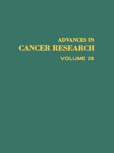 Foto Cover di ADVANCES IN CANCER RESEARCH, VOLUME 28, Ebook inglese di  edito da Elsevier Science