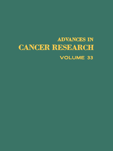 Ebook in inglese ADVANCES IN CANCER RESEARCH, VOLUME 33 -, -