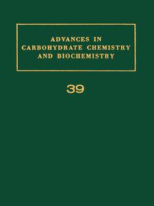 Foto Cover di ADV IN CARBOHYDRATE CHEM & BIOCHEM VOL39, Ebook inglese di  edito da Elsevier Science