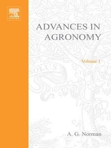 Foto Cover di ADVANCES IN AGRONOMY VOLUME 1, Ebook inglese di  edito da Elsevier Science