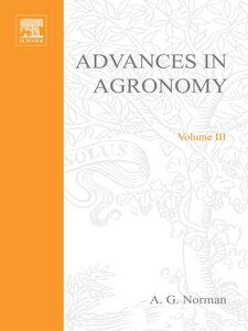 Ebook in inglese ADVANCES IN AGRONOMY VOLUME 3 -, -