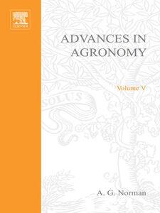 Foto Cover di ADVANCES IN AGRONOMY VOLUME 5, Ebook inglese di  edito da Elsevier Science