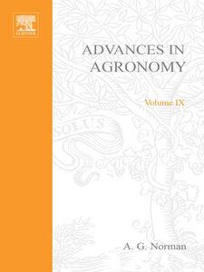 Ebook in inglese ADVANCES IN AGRONOMY VOLUME 9