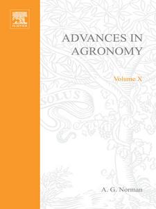 Ebook in inglese ADVANCES IN AGRONOMY VOLUME 10 -, -