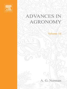 Foto Cover di ADVANCES IN AGRONOMY VOLUME 16, Ebook inglese di  edito da Elsevier Science