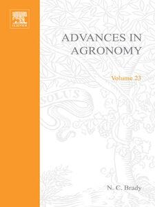 Foto Cover di ADVANCES IN AGRONOMY VOLUME 23, Ebook inglese di  edito da Elsevier Science