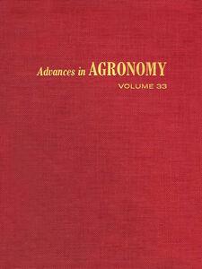 Ebook in inglese ADVANCES IN AGRONOMY VOLUME 33
