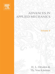 Ebook in inglese ADVANCES IN APPLIED MECHANICS VOLUME 8 -, -