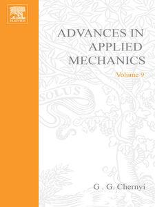Foto Cover di ADVANCES IN APPLIED MECHANICS VOLUME 9, Ebook inglese di  edito da Elsevier Science