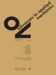 Ebook in inglese ADVANCES IN APPLIED MECHANICS VOLUME 10 -, -