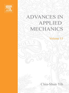 Ebook in inglese ADVANCES IN APPLIED MECHANICS VOLUME 15 -, -