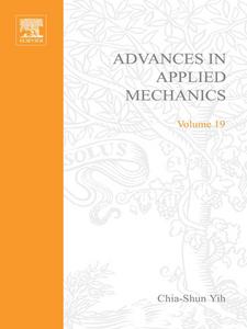 Ebook in inglese ADVANCES IN APPLIED MECHANICS VOLUME 19 -, -