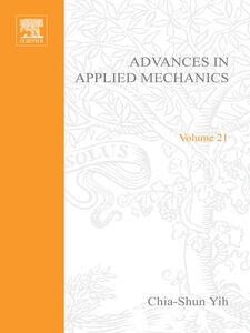 Foto Cover di ADVANCES IN APPLIED MECHANICS VOLUME 21, Ebook inglese di  edito da Elsevier Science