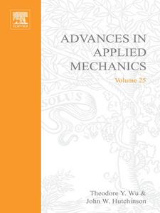 Ebook in inglese ADVANCES IN APPLIED MECHANICS VOLUME 25 -, -