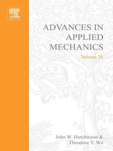 Ebook in inglese ADVANCES IN APPLIED MECHANICS VOLUME 26 -, -