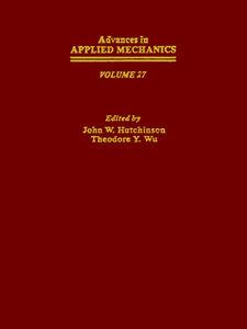 Foto Cover di ADVANCES IN APPLIED MECHANICS VOLUME 27, Ebook inglese di  edito da Elsevier Science