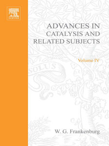Ebook in inglese ADVANCES IN CATALYSIS VOLUME 4 -, -
