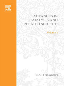 Ebook in inglese ADVANCES IN CATALYSIS VOLUME 5 -, -