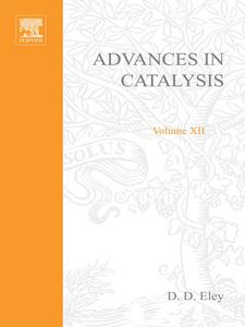 Ebook in inglese ADVANCES IN CATALYSIS VOLUME 12 -, -