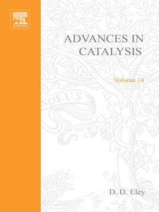 Ebook in inglese ADVANCES IN CATALYSIS VOLUME 14 -, -