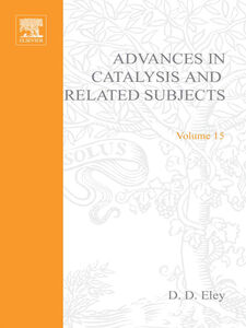 Foto Cover di ADVANCES IN CATALYSIS VOLUME 15, Ebook inglese di  edito da Elsevier Science