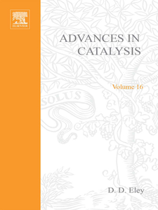 Ebook in inglese ADVANCES IN CATALYSIS VOLUME 16 -, -