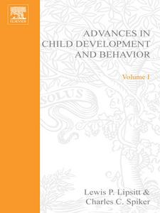 Ebook in inglese ADV IN CHILD DEVELOPMENT &BEHAVIOR V 1 -, -