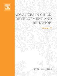 Ebook in inglese ADV IN CHILD DEVELOPMENT &BEHAVIOR V 9 -, -