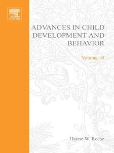 Ebook in inglese ADV IN CHILD DEVELOPMENT &BEHAVIOR V10