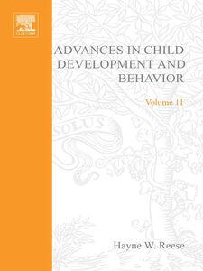 Ebook in inglese ADV IN CHILD DEVELOPMENT &BEHAVIOR V11