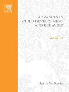 Ebook in inglese ADV IN CHILD DEVELOPMENT &BEHAVIOR V20