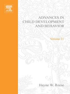 Ebook in inglese ADV IN CHILD DEVELOPMENT &BEHAVIOR V21