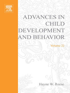 Foto Cover di ADV IN CHILD DEVELOPMENT &BEHAVIOR V22, Ebook inglese di  edito da Elsevier Science