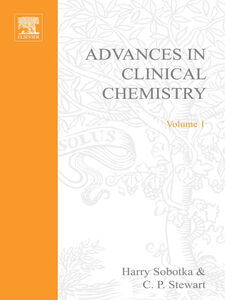 Ebook in inglese ADVANCES IN CLINICAL CHEMISTRY VOL 1 -, -