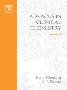 Foto Cover di ADVANCES IN CLINICAL CHEMISTRY VOL 4, Ebook inglese di  edito da Elsevier Science