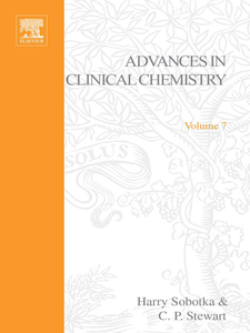 Ebook in inglese ADVANCES IN CLINICAL CHEMISTRY VOL 7 -, -