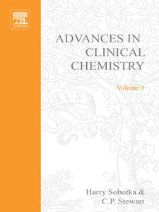 Ebook in inglese ADVANCES IN CLINICAL CHEMISTRY VOL 9 -, -
