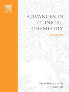 Ebook in inglese ADVANCES IN CLINICAL CHEMISTRY VOL 10 -, -